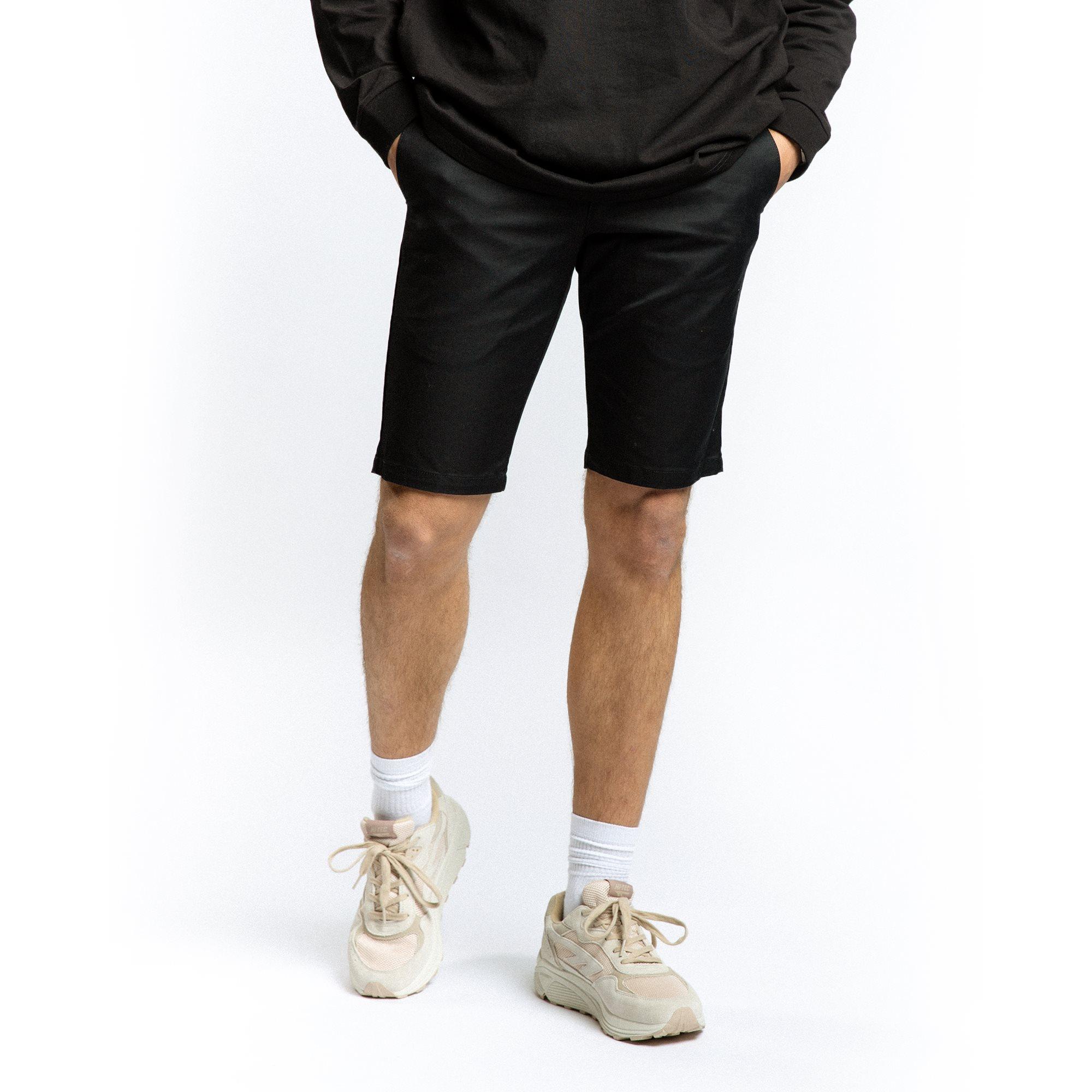 Shorts - Slim fit - Svart